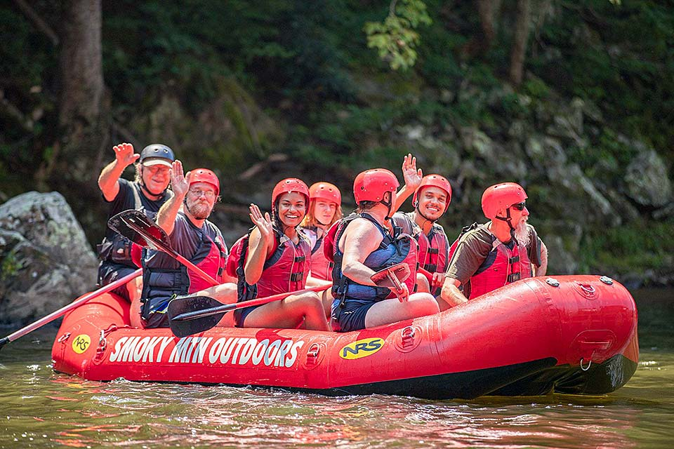 Whitewater rafting trip in the Smoky Mountains